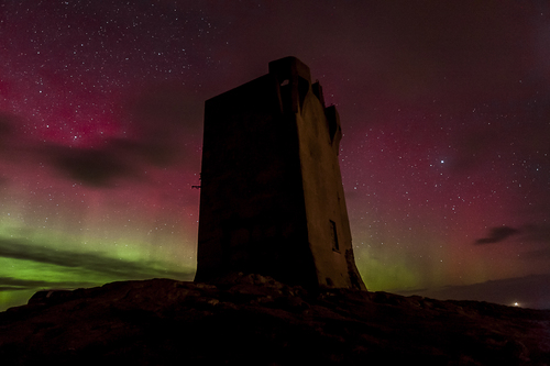 A return of the Northern Lights over Donegal, this is Banba's Crown, Malin Head Co Donegal.
