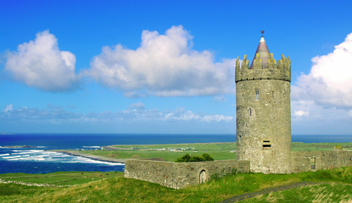 Donogore Castle in Doolin on Ireland's West Coast. Standing guard over the wild Atlantic coastline since the 1600's.