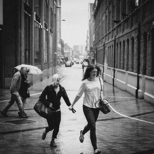 Belfast street life captured in the rain