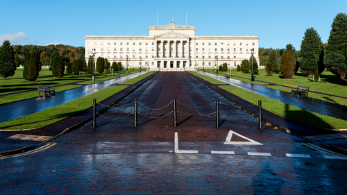 The Parliament Buildings, commonly known as Stormont because of their location in the Stormont area of Belfast, are the seat of the Northern Ireland Assembly and the Northern Ireland Executive. They previously housed the defunct Parliament of Northern Ireland.