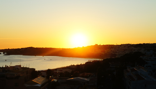 Sunset behind Albuferia
