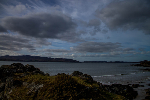 The view from Linsfort beach, looking out across the Swilly towards the Fanad Peninsula