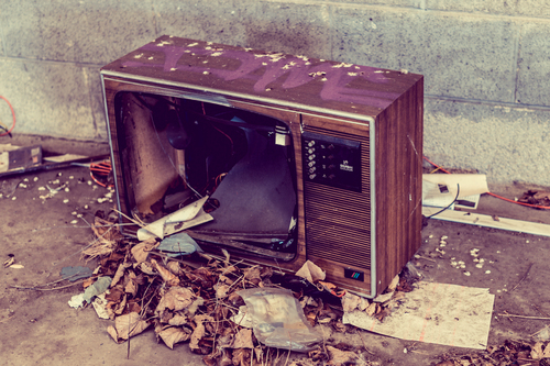 Abandoned t.v in Lisburn