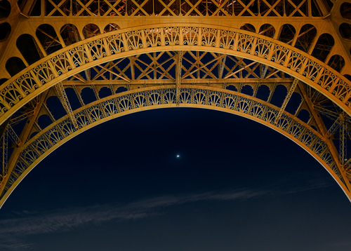 Eiffel Tower And Star,Paris France