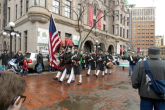 Soldiers from Fort Snelling on parade, St. Patrick's Day - Saint Paul, Minnesota.