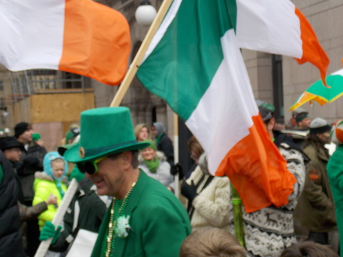 Irish Flags, St. Patricks Parade - Saint Paul, Minnesota.