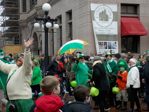 Man in Aran Sweater & Kilt, St. Patrick's Day Parade - Saint Paul, Minnesota.