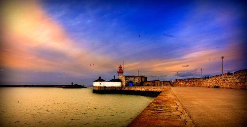 Dun Laoghaire Harbour's East Pier Lighthouse