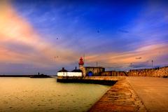 Dun Laoghaire Harbour's East Pier Lighthouse
