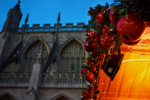 Bath Abbey during the Bath Christmas Market