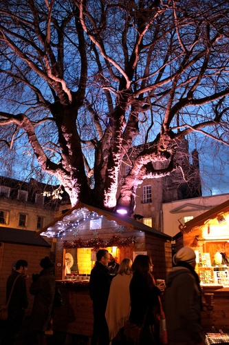 The beautiful backdrop of the Bath Christmas Market