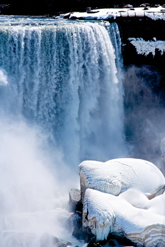 Waters, ice and everything nice falling away in Niagara Falls