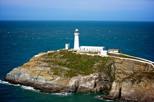 Holyhead Lighthouse in the Summer
