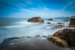 Long exposure at the 40 foot bathing area. I used a Big Stopper to blur the motion in the water.