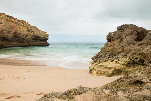 Praia De Albandeira, beach in Algarve, Portugal