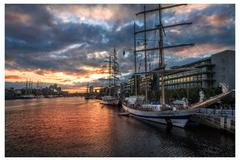 Tall ships at Sunset 2013