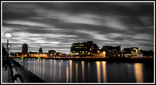 Dublin City by night