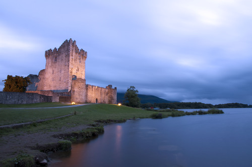 Ross Castle is a 15th century tower house and keep on the edge of Lough Leane, in Killarney National Park, County Kerry, Ireland. Wikipedia