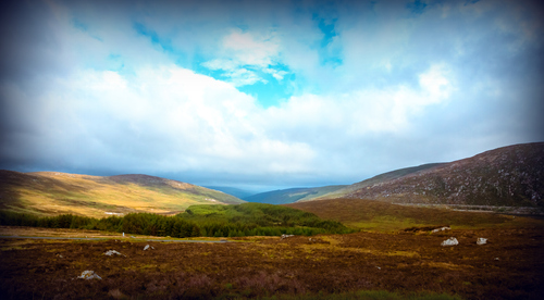 The country side of wicklow mountains