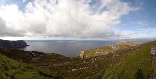 Horn Head, County Donegal - The Atlantic - then America.