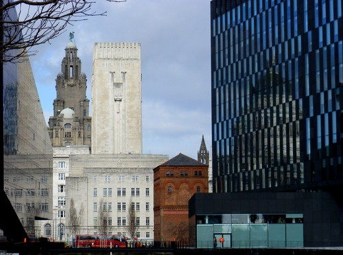 The modern & old Liverpool Architecture