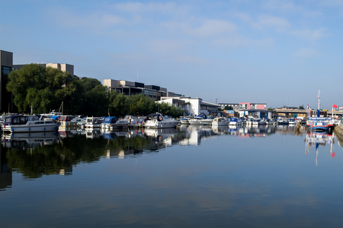 A nice day viewing the boats along the brayford in the City of Lincoln.
