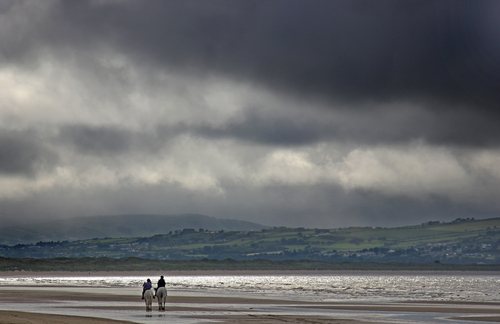 Storm coming in over Donegal, some brave horseriders out and about before the rain.