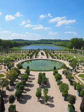View overlooking the Orangerie at the Palace of Versailles west of Paris.