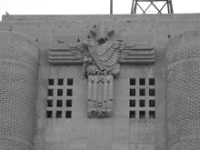 Eagle above the entrance of the old Minneapolis Armory.