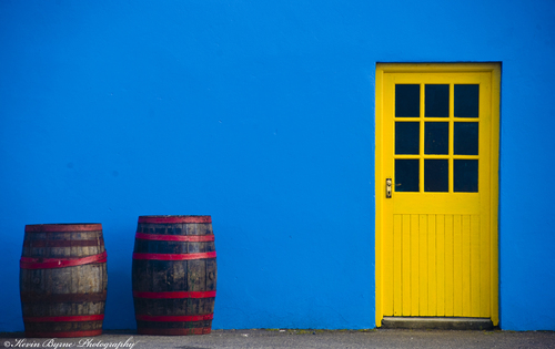 Bright colours in Fanore, Co. Clare caught my eye one summer morning.
