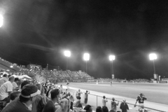 Packed Crowd watching the Saint Paul Saints at Midway Stadium.