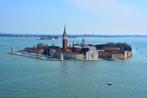 The beautiful island of San Giorgio Maggiore, Venetian Lagoon.