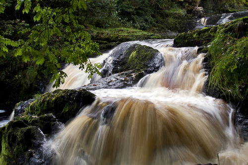 Cascading water on the Mill river in Buncrana.