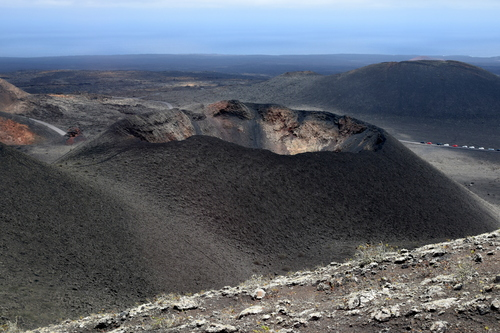 Another picture from Fire Mountain in Lanzarote. The landscape is surreal looking, with all the lava and rocks from the volcanic eruptions from another time on the Island.