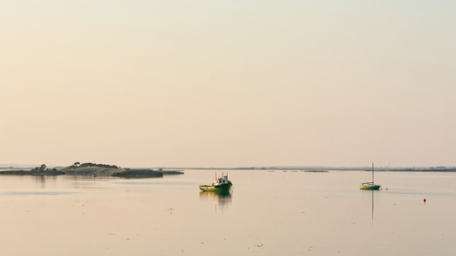Evening in Kinvara Bay, near Dhún Guaire Castle, Co Galway