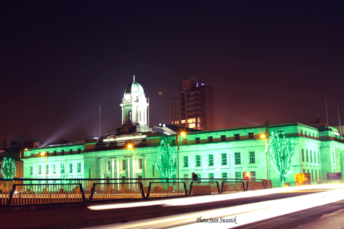 """Lit up in green for St Patrick's Day celebration's.  Know anyone who may be interested in a beautiful photographic print ? Please share this link with them. Thanks !"""""""