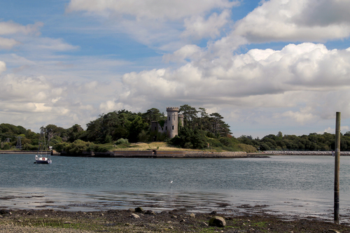 Fota Island Castle shot from Little Island East Cork.