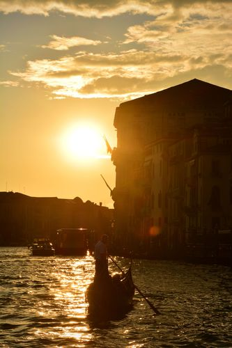 Sunset on the Canal Grande.