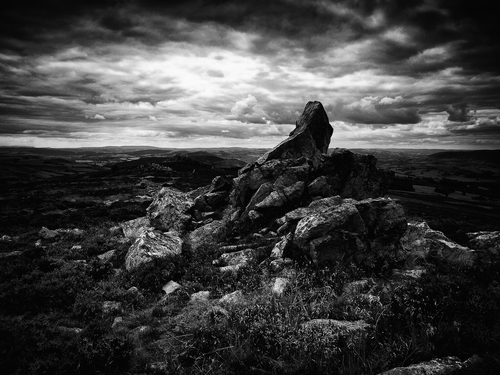 The wonderfully evocative rock formations of the Stipper Stones in Shropshire.