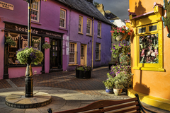 Evening sun on colourful Kinsale