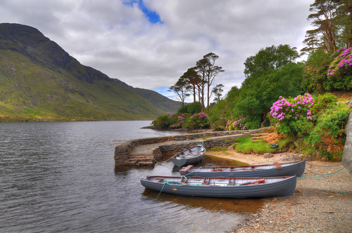 Moorings at Doolough Co Mayo