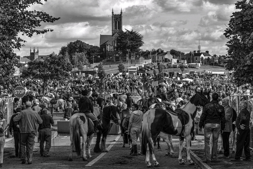 The Great October Horse Fair in Ballinasloe Co Galway