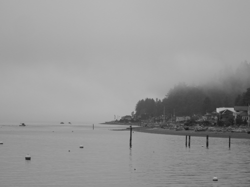 A misty morning on Columbia Beach on Whidbey Island.