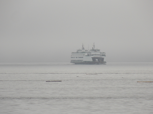 Ferry crossing Puget Sound between Clinton & Mukilteo.