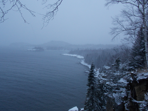 Looking south from Split Rock Lighthouse on Lake Superior.