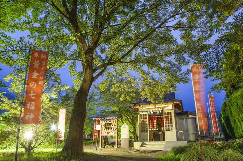 Shinto Temple, Lake Kawaguchi, Kawaguchi-ko, Yamanashi, Japan.