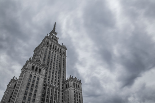 Palac Kultury i Nauki (Palace of Culture and Sciences), Warsaw, Poland.