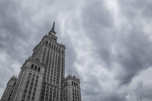 Palac Kultury i Nauki (Palace of Culture and Sciences), Warsaw, Poland.