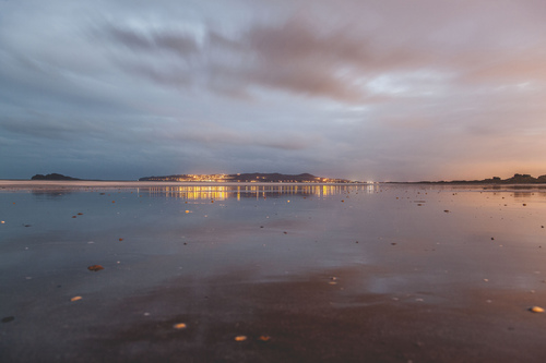 Portmarnock Beach and Howth, Dublin, Ireland.
