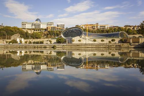 Mtkvari River, Tbilisi, Georgia.
